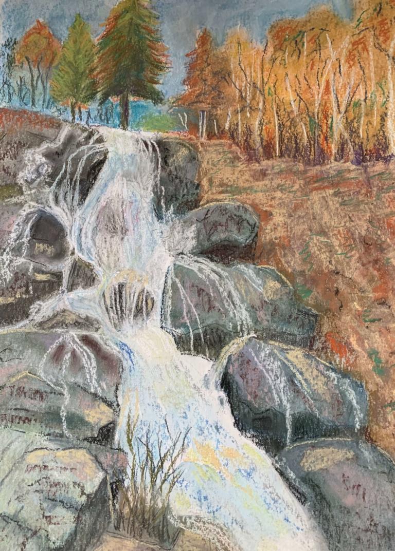 Wasserfall im Herbst